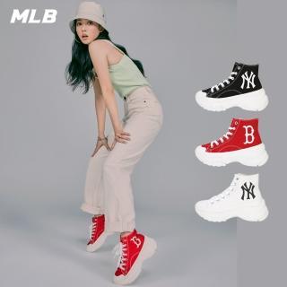 【MLB】高筒老爹鞋 CHUNKY HIGH系列 洋基 紅襪隊logo(三色任選-32SHU1011)