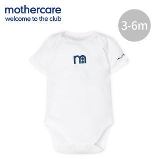 【mothercare】純棉嬰兒短袖包屁衣(3-6m)