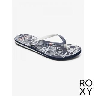 【ROXY】女款 夾腳拖 拖鞋 人字拖 PORTOFINO III(海軍藍)
