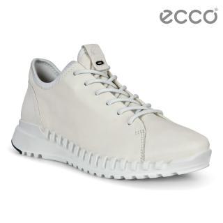 【ecco】ZIPFLEX W 酷飛運動單色戶外休閒鞋 女鞋(白色 80376301152)