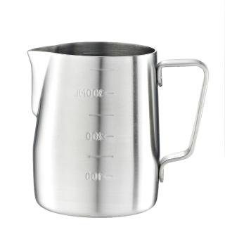 【Tiamo】專業內外刻度不鏽鋼拉花杯360cc-砂光款(HC7083)/