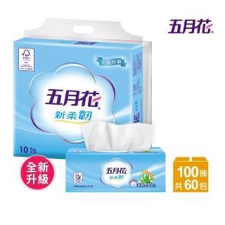 【MAY FLOWER 五月花】新柔韌抽取式衛生紙(100抽x10包x6袋)