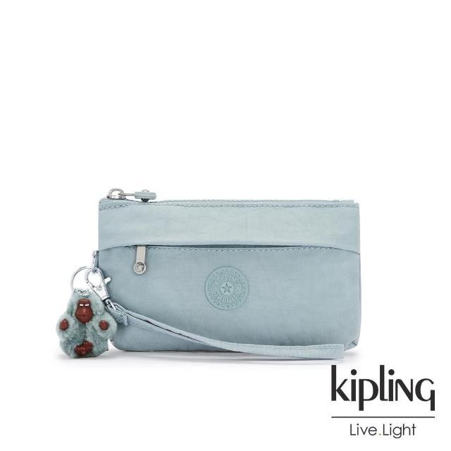 【KIPLING】歡樂繽紛藍手拿配件包-NIYLAH/