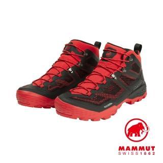 【Mammut 長毛象】Ducan Mid GTX 中筒登山健行鞋 男款 黑/辛辣紅 #3030-03540