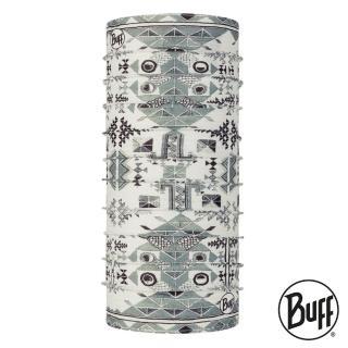 【BUFF】COOLNET 抗UV頭巾 DHAL MULIT印墨雙影 BF122504-555(路跑/防曬/健行/單車/爬山/防疫)
