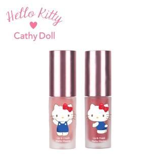 【Cathy Doll 凱蒂娃娃】Hello Kitty聯名彩妝  絲絨慕斯唇頰釉