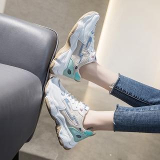【LN】現貨 透氣網面撞色反光老爹鞋(休閒鞋/老爹鞋/運動鞋)