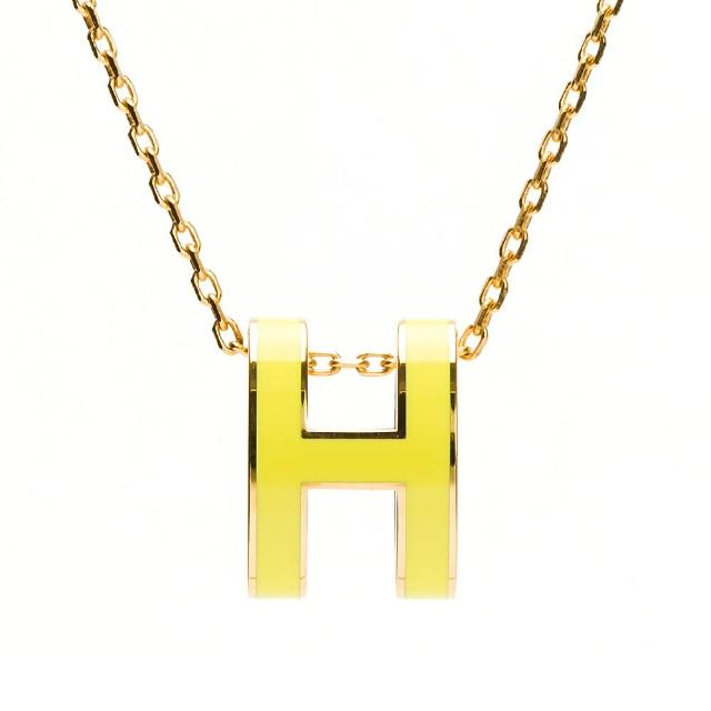 【Hermes 愛馬仕】經典Pop H立體簍空橢圓LOGO項鍊/耳環(多款多色選)