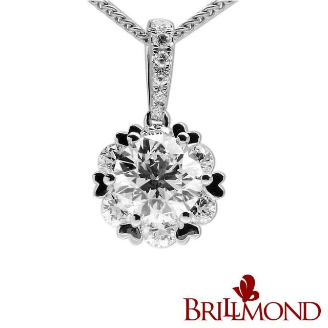 【BRILLMOND JEWELRY】驕光綻放GIA一克拉鑽墜(GIA D/VS2 3EX NONE)