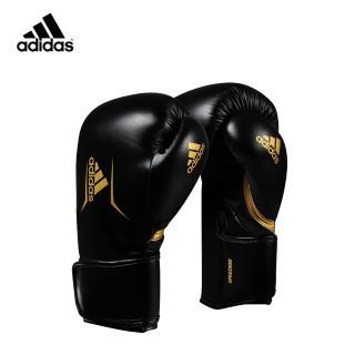 【adidas 愛迪達】SPEED100 拳擊手套 黑金(踢拳擊手套、泰拳手套、沙包手套)