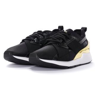 【PUMA】Muse X-2 Metallic  Wns 女款 休閒鞋 黑金(37083807)