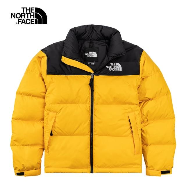 【The North Face】經典ICON-The North Face北面男款黃色防潑水羽絨外套|3C8D56P