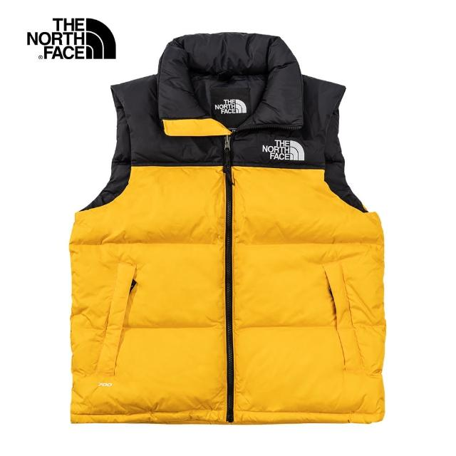 The North Face【The North Face】經典ICON-The North Face北面男款黃色防潑水羽絨背心|3JQQ56P