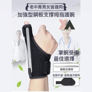 【XA】加強型鋼板支撐拇指護腕(手腕受傷、掌腕固定、護腕、拇指、腱鞘受傷、雙重防護、可自由組合拆卸)