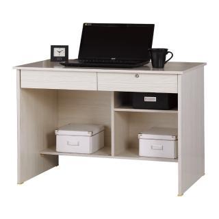 【AT HOME】現代經典傳統3尺雪山白色二抽收納書桌/電腦桌/工作桌(下座/金點將)