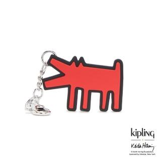 【KIPLING】Kipling x Keith Haring 限量聯名系列街頭塗鴉造型吊飾-DOG KH
