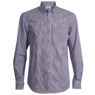 【CR7 CRISTIANO RONALD 西羅】Slim Fit 藍紅混合色小點點白底尖領襯衫(8649-72-322)