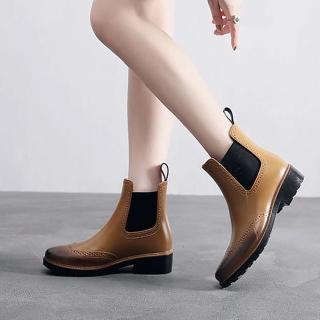 【LN】現貨 布洛克風雕花暈染雨靴O↘(雨鞋/雨靴/熱銷/售完不補)