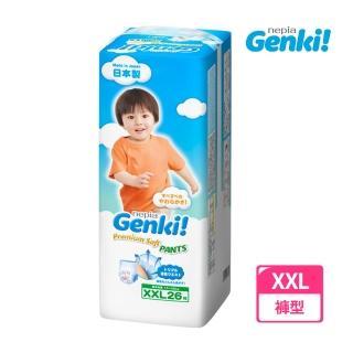 【王子GENKI】超柔軟褲型尿布 XXL(26片*3包)