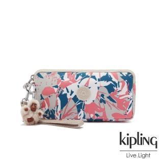 【KIPLING】碰撞魅力潑墨手拿包-LOWIE/