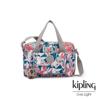 【KIPLING】碰撞魅力潑墨波士頓手提兩用包-BRYNNE/