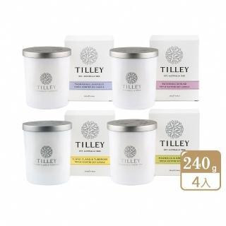 【Tilley 百年特莉】澳洲原裝微醺大豆香氛蠟燭(任選4入)