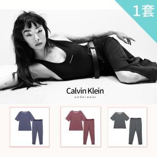 【Calvin Klein】CK短袖棉質睡衣褲 CK內著居家