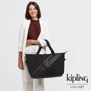 【KIPLING】純淨黑手提側背包-ART M