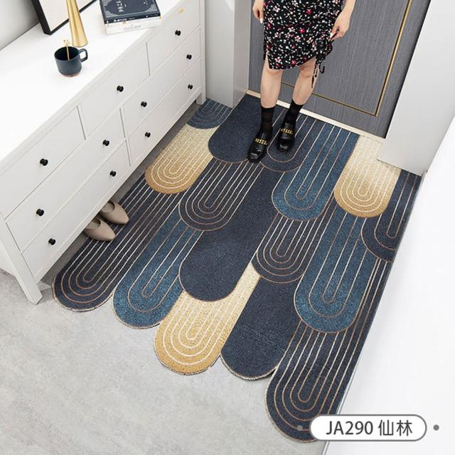 【聚時柚】120×100cm玄關刮泥地墊絲圈腳踏墊門墊地毯(16款可選)