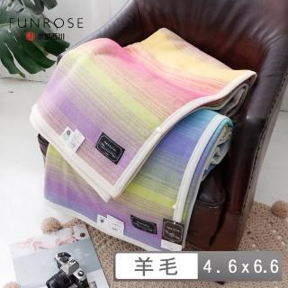 【京都西川】日本國產京織羊毛毯 線條款(4.6X6.6)
