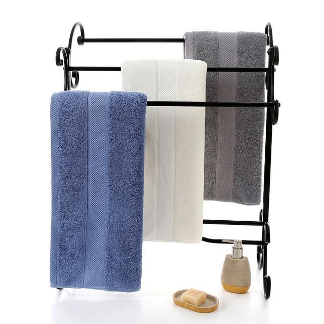 【CSmart+】飯店大浴巾純棉加厚重磅(2條組_70*140cm_白/灰/藍)/