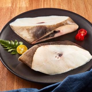 【元家】格陵蘭嚴選冷凍厚切大比目魚9入組(300g/片 頭刀單肚洞)