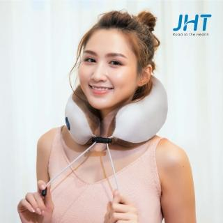 【JHT】U型包覆無線按摩枕(旅行枕/午睡枕/肩頸枕/USB充電)