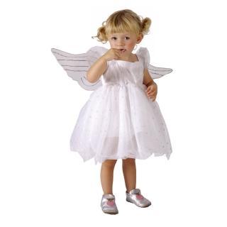 【Party Animal 派對動物】白色小天使蓬蓬紗裙洋裝+天使翅膀3-4歲幼兒童生日聖誕禮物服飾變裝扮(082594)