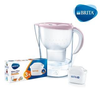 【BRITA】Marella 3.5L馬利拉濾水壺+3入去水垢濾芯(共4芯)
