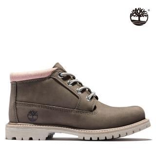 【Timberland】女款中棕色磨砂革經典短靴(A2J68901)