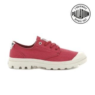 【Palladium】PAMPA OX ORGANIC有機低筒鞋-中性-野莓紅(76643-665)