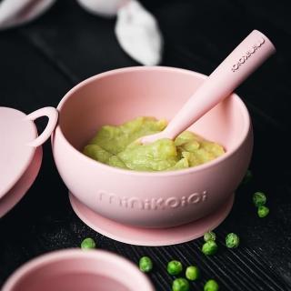 【土耳其minikoioi】副食品餐具兩件組-6款可選(防滑矽膠吸盤碗&矽膠湯匙)