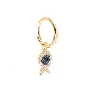 【apm MONACO】金色幸運魚耳環