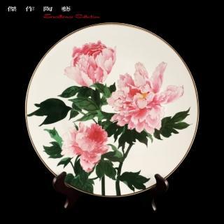 【傑作陶藝】富貴牡丹瓷盤(AA03)