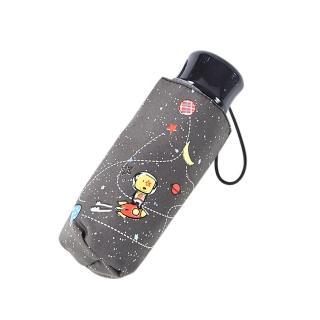 【rainstory】火箭狗狗-灰抗UV手開迷你口袋傘