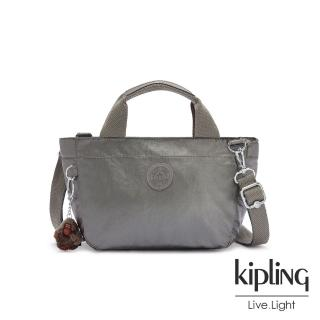 【KIPLING】寧靜月光灰手提兩用斜背包-SUGAR S II