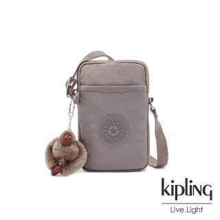 【KIPLING】沉穩時尚灰可愛長方形小包-TALLY/