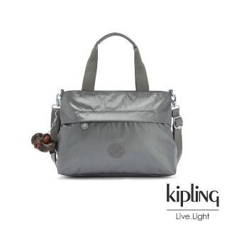 【KIPLING】寧靜月光灰簡單造型兩用手提肩背包-ESPINOSA/