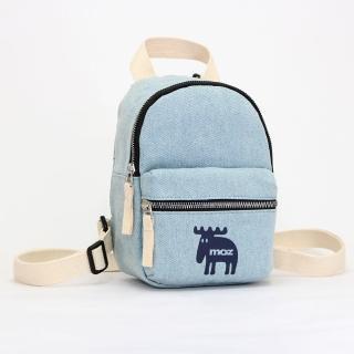 【moz】瑞典小駝鹿迷你後背包(單寧藍)