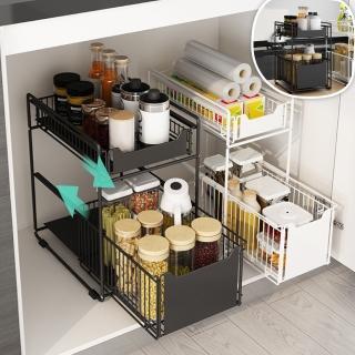 【慢慢家居】升級款廚房浴室雙層抽屜置物架/