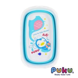 【PUKU 藍色企鵝】Elephant大象摺疊浴盆(加大款)
