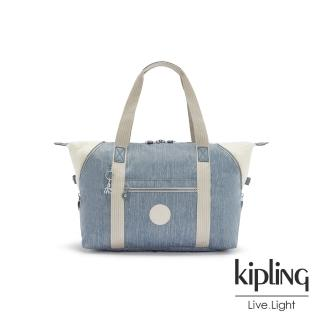 【KIPLING】經典率性丹寧手提側背包-ART M