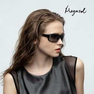 【MEGASOL】UV400智能感光變色偏光太陽眼鏡(全天候適用運動眼鏡SB1039-兩色可選)