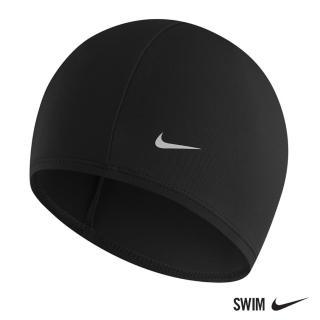 【NIKE 耐吉】男女 尼龍泳帽 運動 機能 黑 93065-001